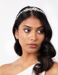 Diamante Silver Stretch Headband - link has visual effect only