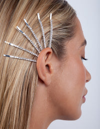 Crystal Silver Hair Pin Pack - link has visual effect only