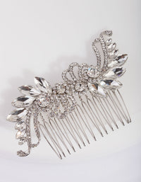 Art Deco Crystal Silver Comb - link has visual effect only