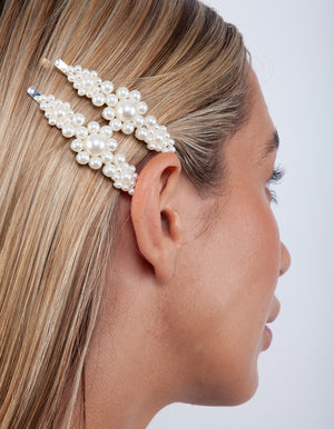 slide oblong lilac and clear Hair clip