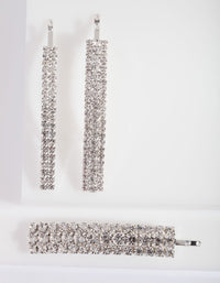 Diamante Mix Hair Clip 3 Pack