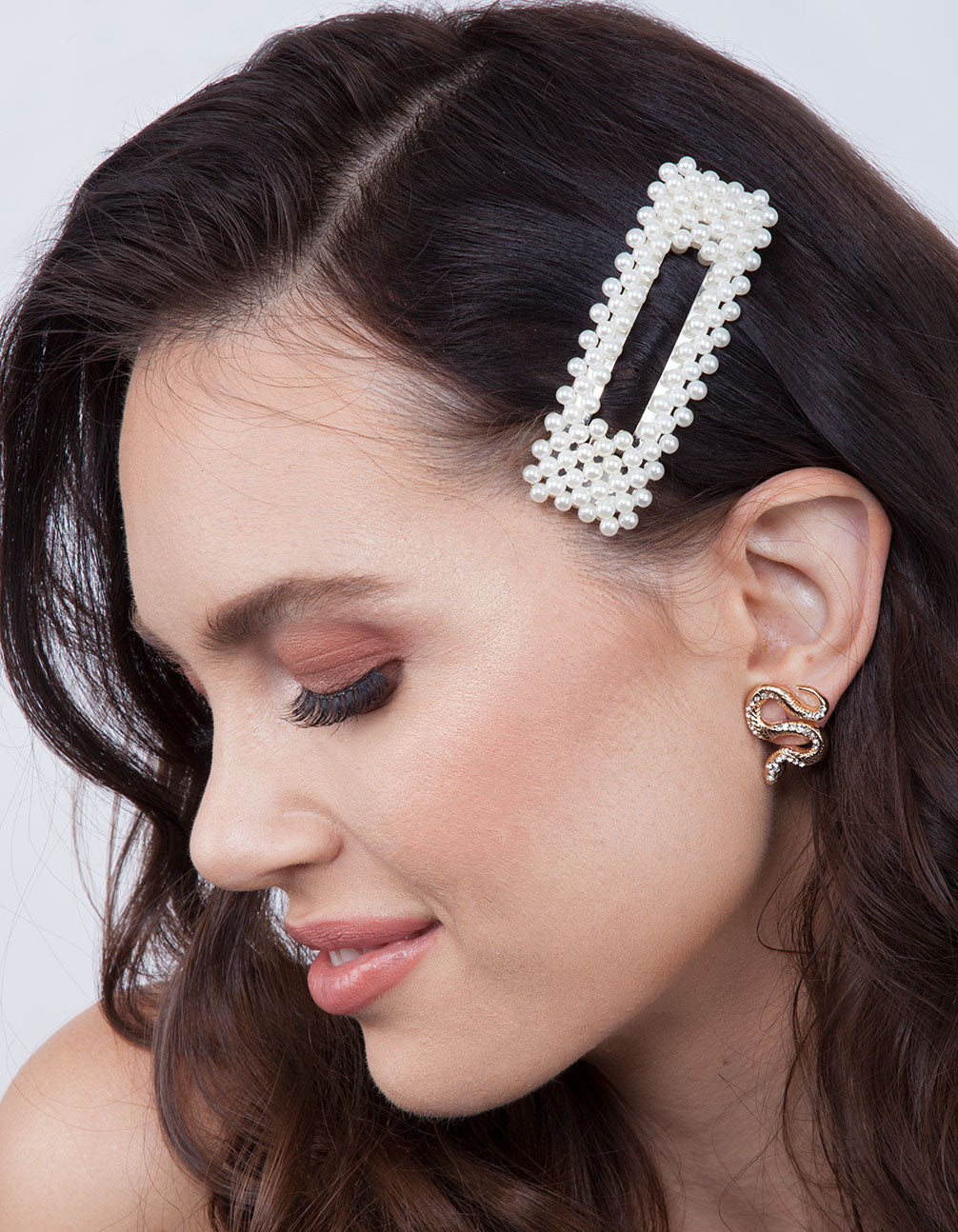Pearl Rectangle Hair Clip