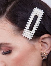 Pearl Rectangle Hair Clip | Hair | Lovisa Bridal Jewellery Australia | Wedding Accessories