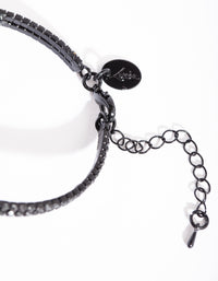 Black Diamante Hand Chain