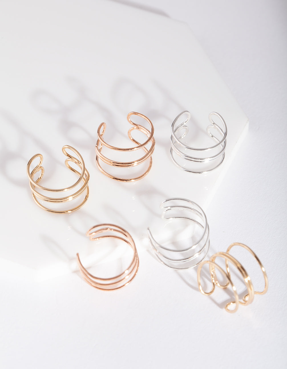 Fine Modern Cuff Toe Ring 3 Pack