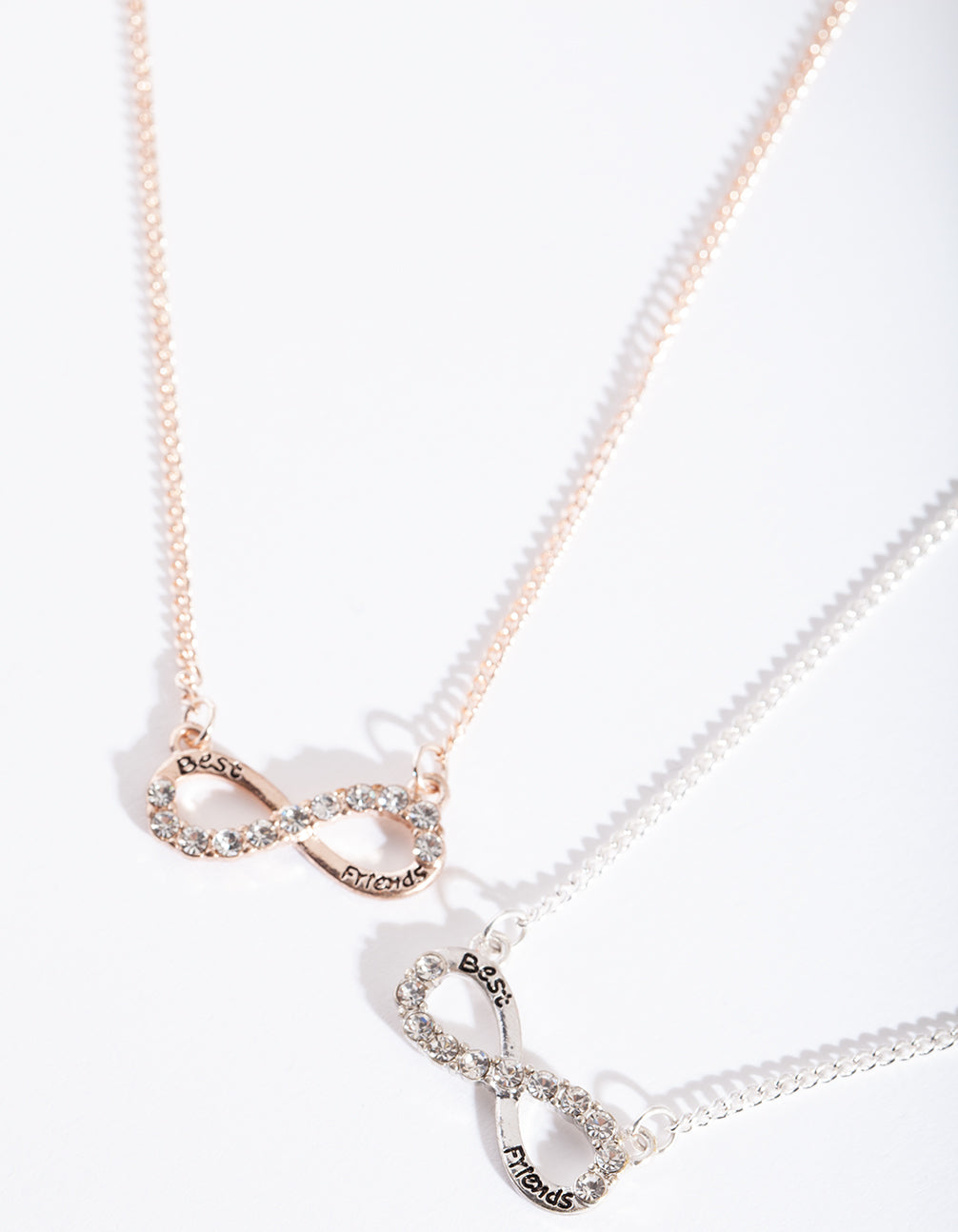 Mixed Metal Best Friend Infinity Necklace Set