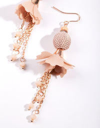 Rose Gold Floral Tassel Drop Earring - link has visual effect only