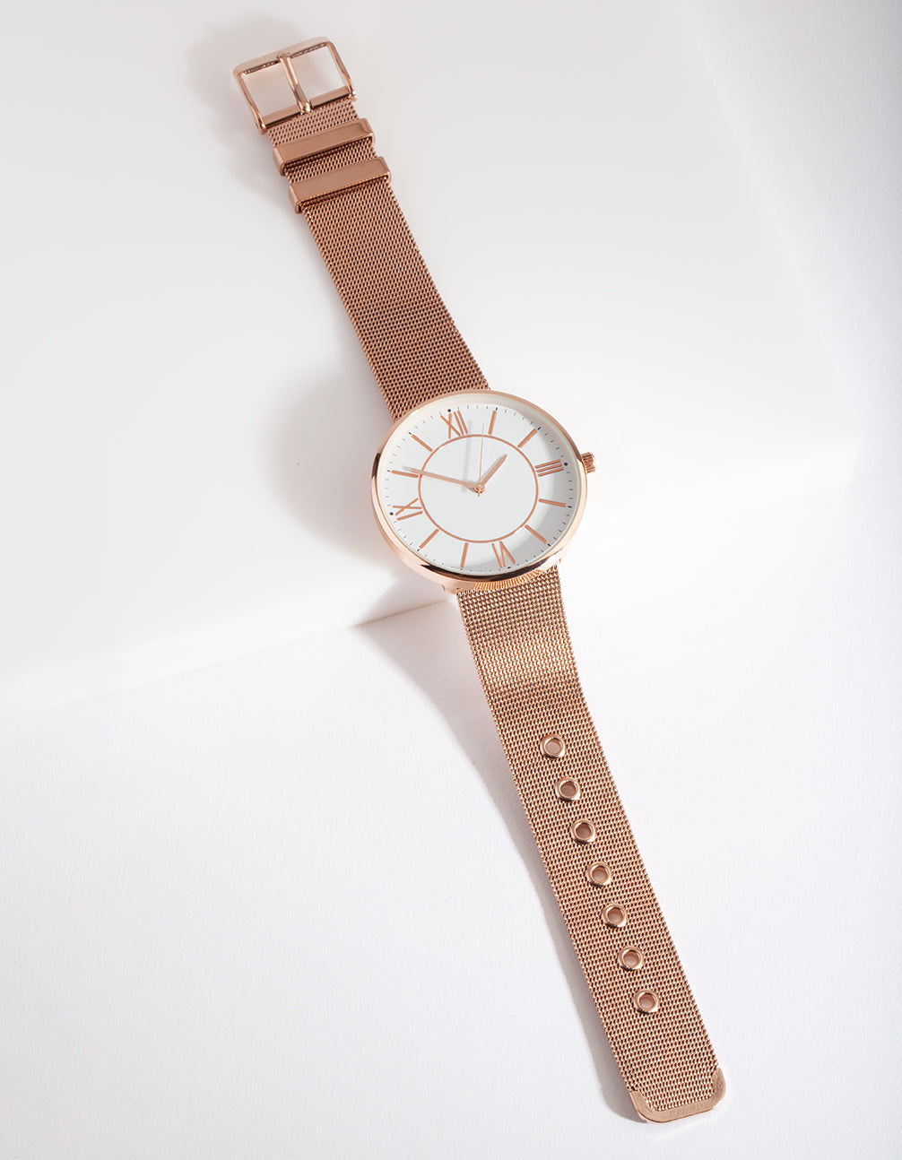 Rose Gold Classic Mesh Strap Watch