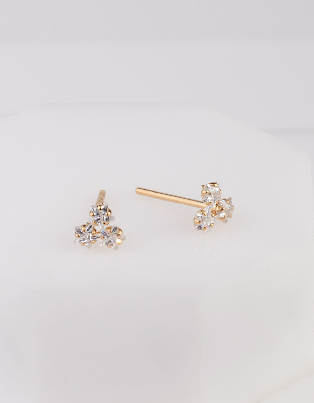 e36abe7bd51db Gold Plated Trio Cluster Earring Stud