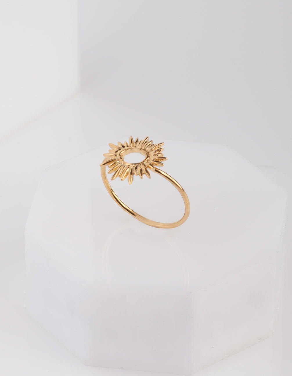 Gold Plated Sun Burst Ring