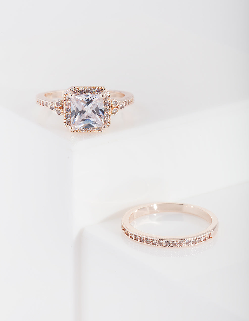 bc4d6b09ac1fd Rose Gold Engagement Mini Ring Stack