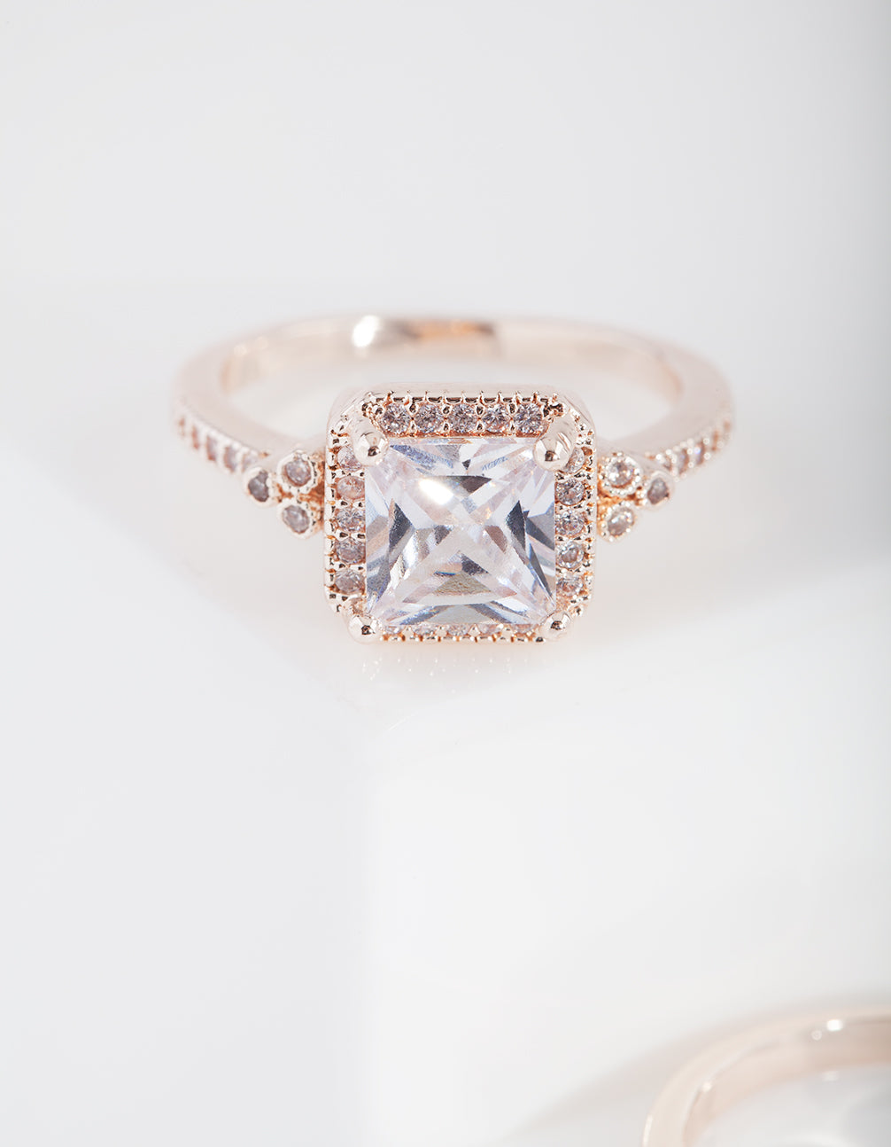 Rose Gold Engagement Mini Ring Stack