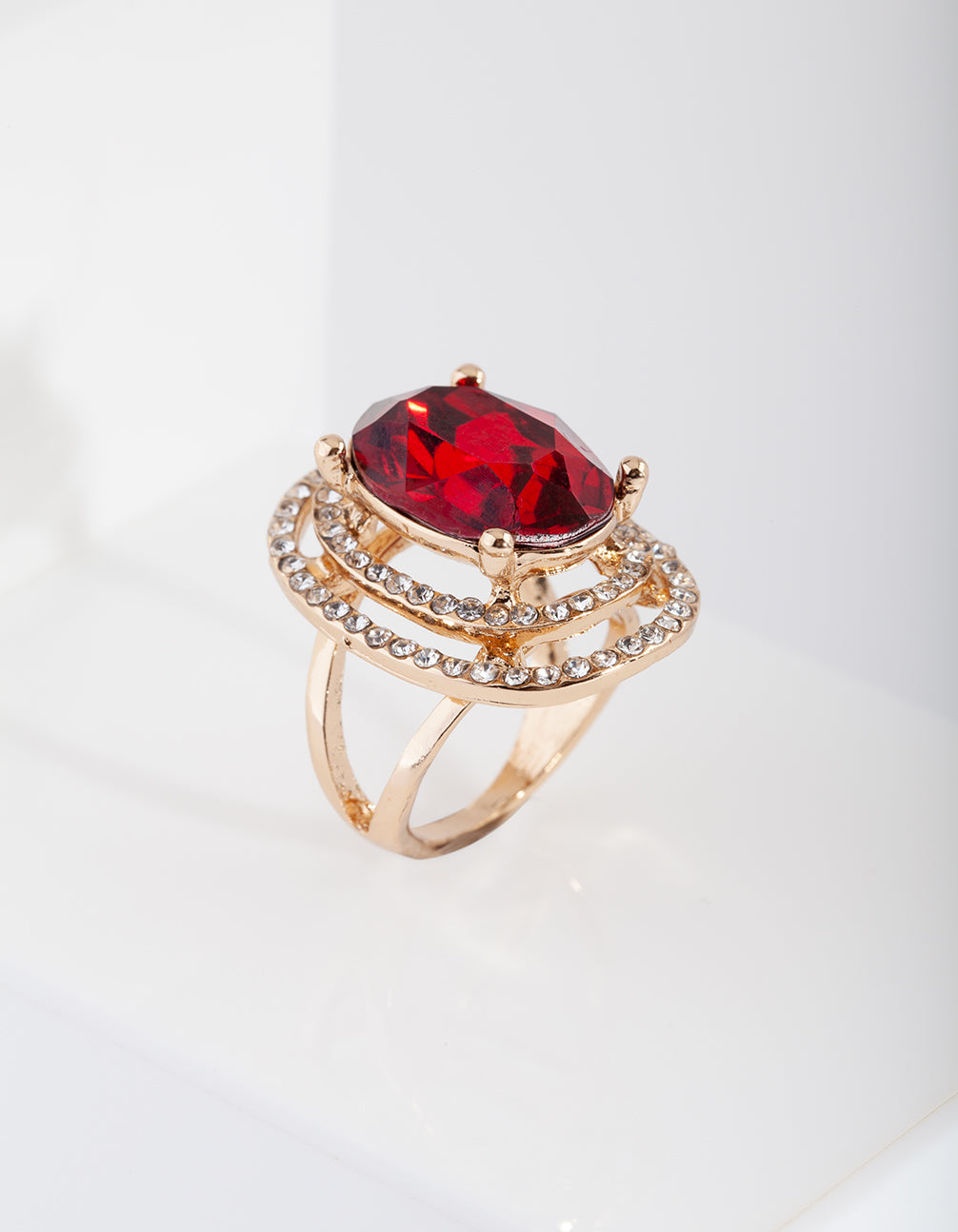 eae26dad6c Red Ruby Diamante Statement Ring Red Ruby Diamante Statement Ring
