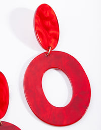 Red Acrylic Oval cut - link has visual effect only