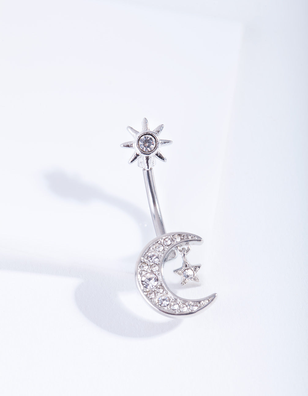 Titanium Moon Star Belly Bar