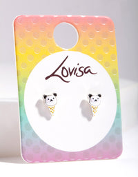 Kids Panda Ice-Cream Stud Earring - link has visual effect only