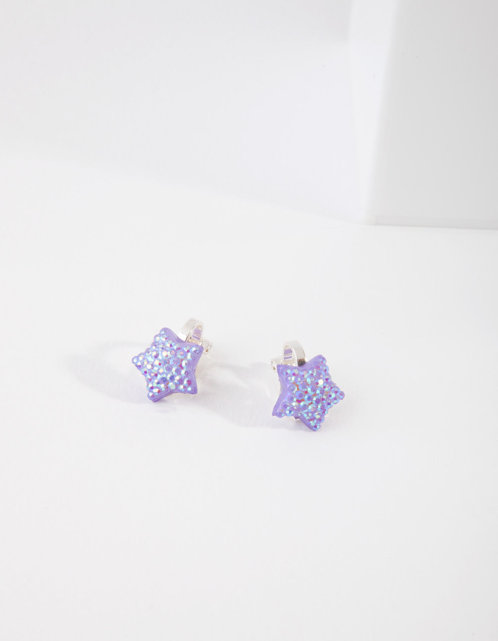 Kids Silver Jelly Star Earring