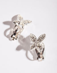 Kids Crystal Butterfly Clip-On Earring - link has visual effect only