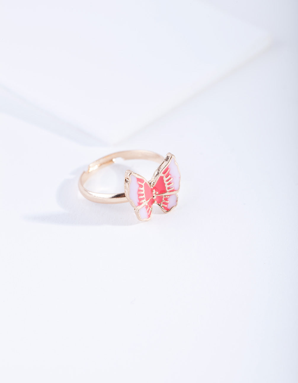 Kids Pink Butterfly Ring