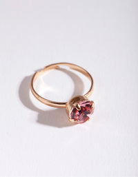 Kids Pink Diamante RIng - link has visual effect only