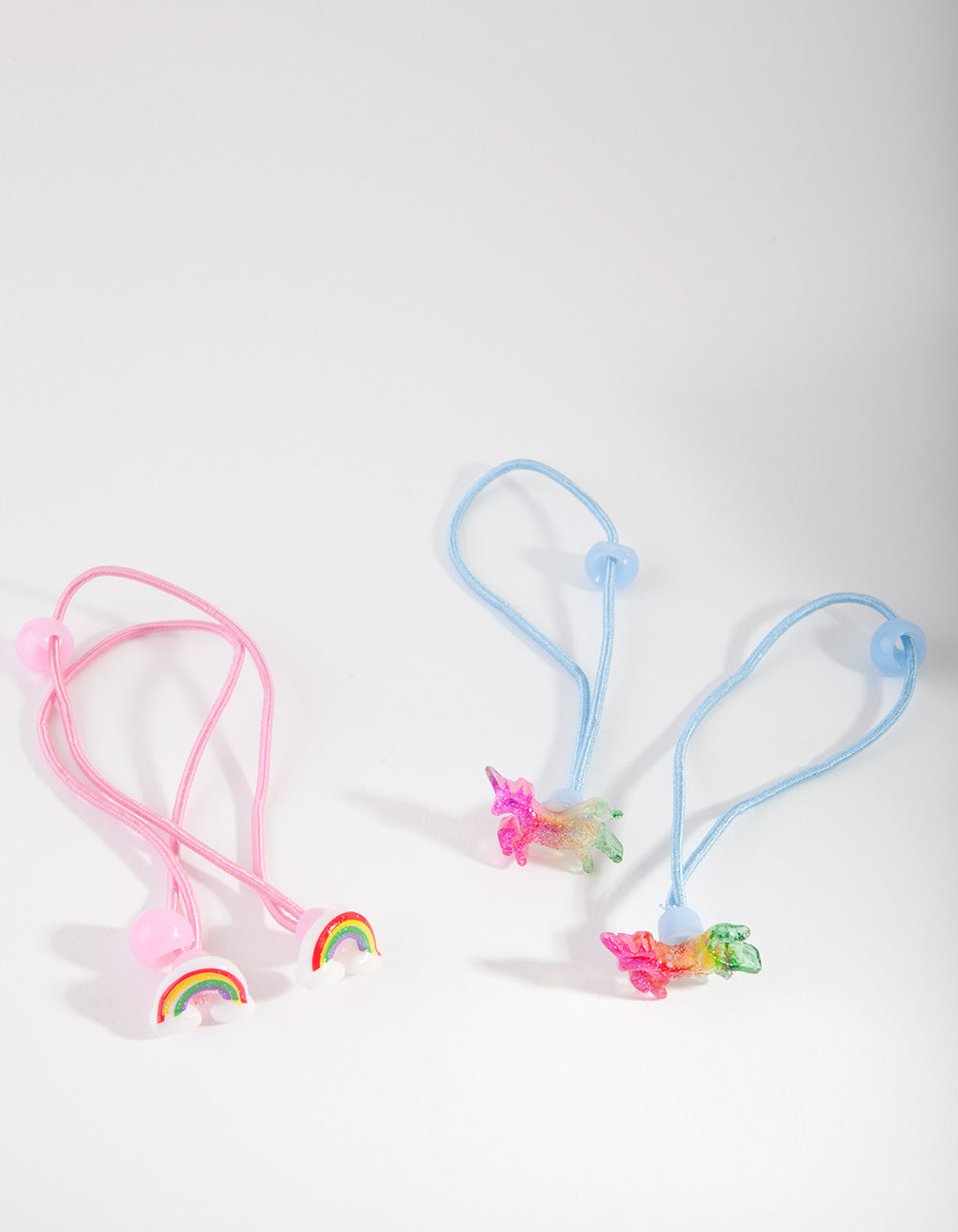Multi-Colour Novelty Hair Tie 4 Pack