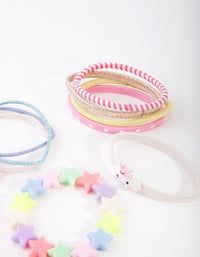 Kids Fabric Cloud Pink Bracelet Hair Set - link has visual effect only