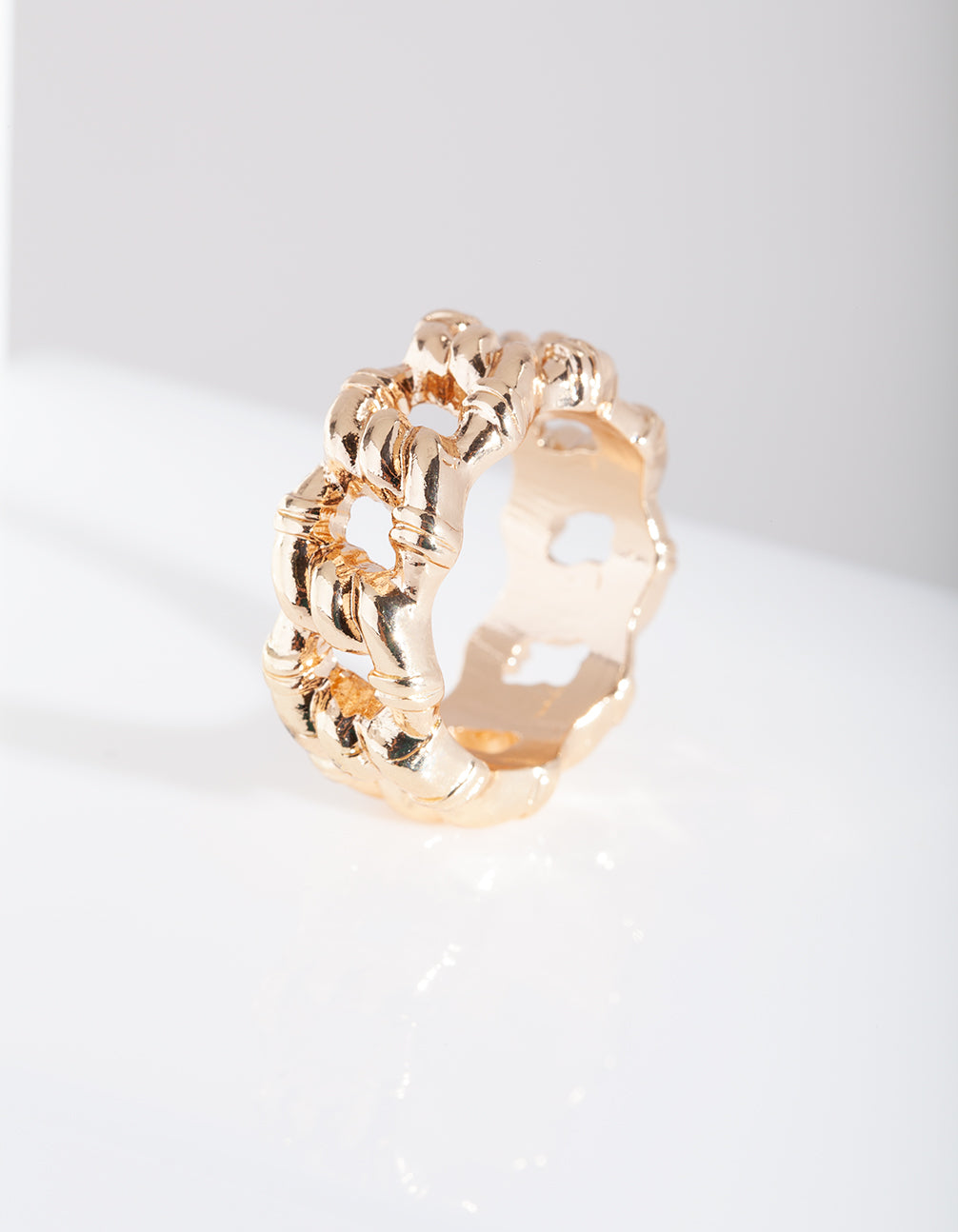 Thick Gold Chain Ring