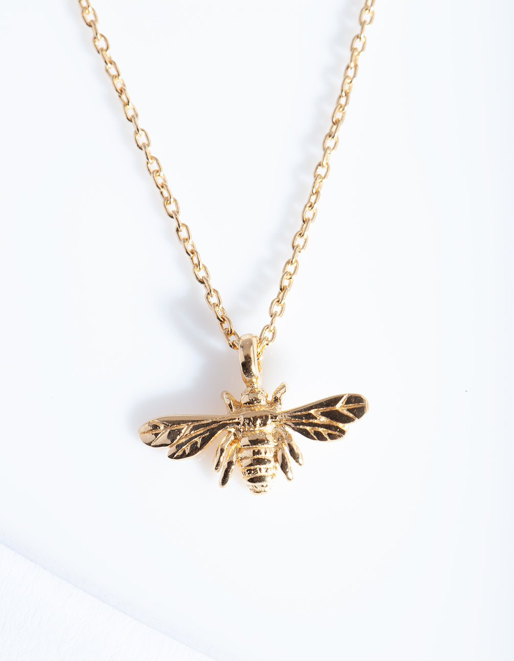 Gold Plated Sterling Silver Bee Necklace