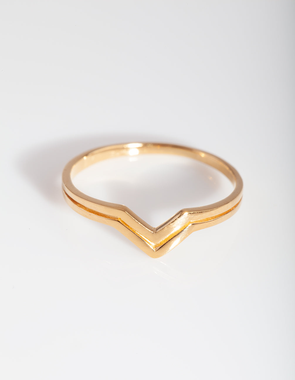 Gold Plated Sterling Silver Double Pointed Ring