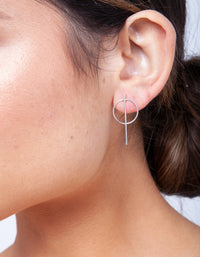 Sterling Silver Stick Drop Earring - link has visual effect only