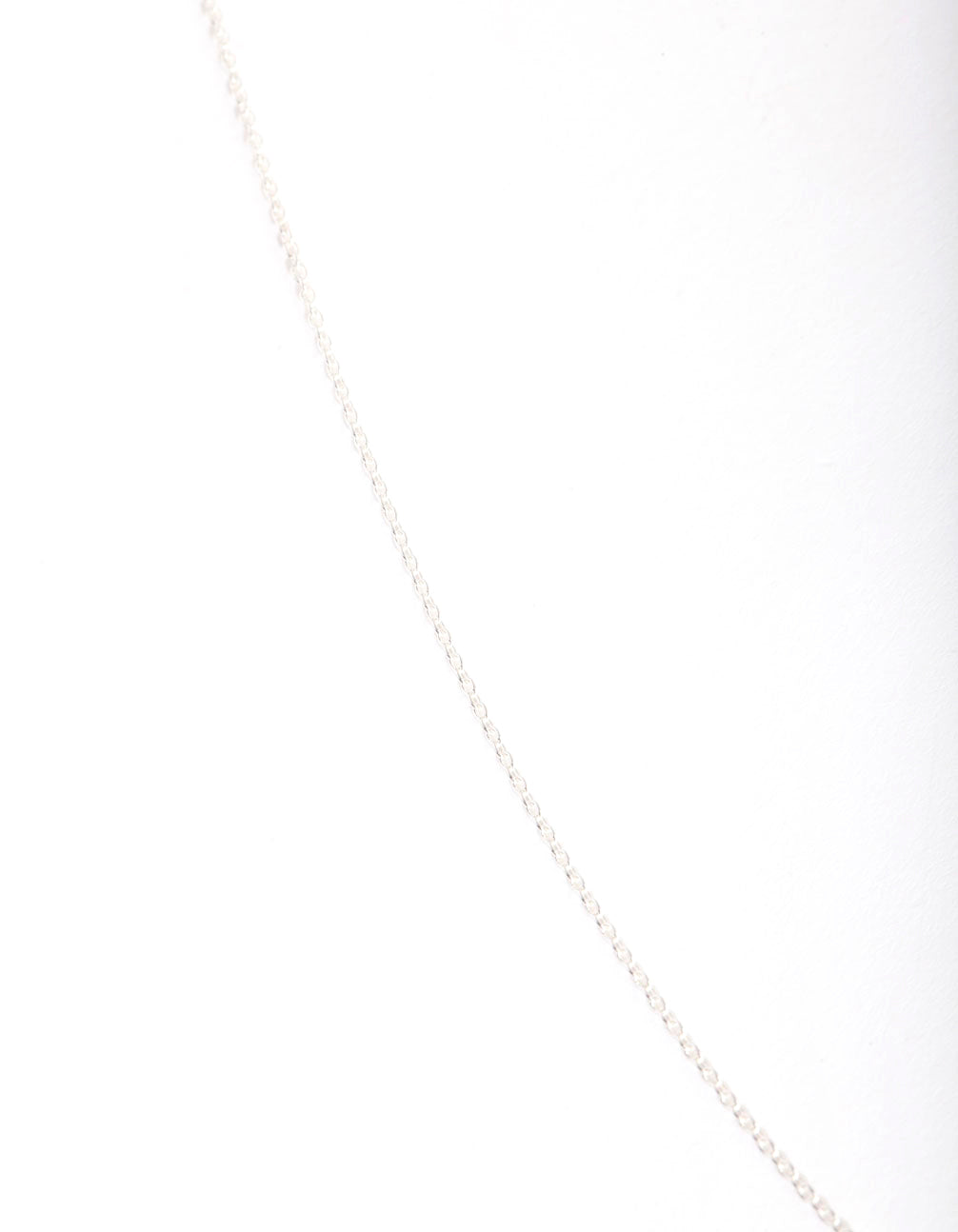 Sterling Silver 75cm Plain Chain Necklace