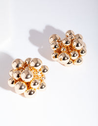 Gold Bead Stud Earrings - link has visual effect only