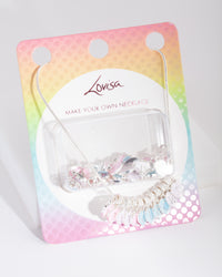 Kids Silver Make Your Own Enamel Letter Necklace - link has visual effect only