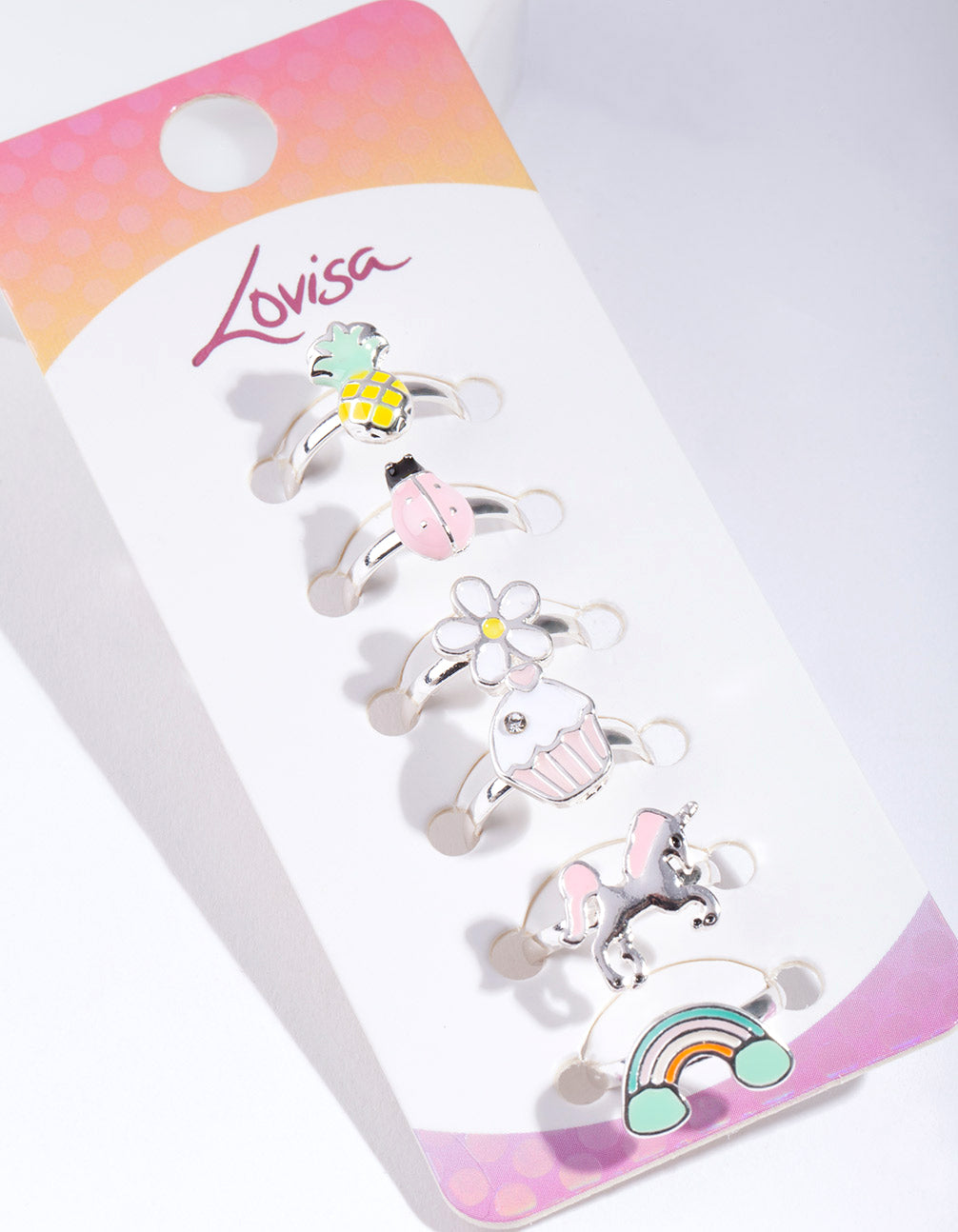 Kids Unicorn Ring 6 Pack