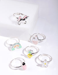 Kids Unicorn Ring 6 Pack - link has visual effect only