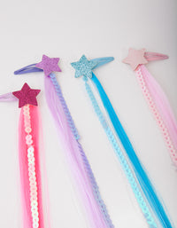 Kids Star Hair Clip 4 Pack - link has visual effect only