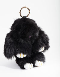 Kids Black Bunny Keyring - link has visual effect only