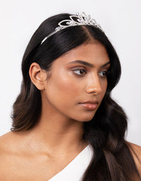 Silver Diamante Stone Tiara - link has visual effect only
