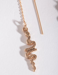 Textured Snake Thread Through Earrings - link has visual effect only