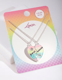 Kids Silver BFF Heart Necklace - link has visual effect only