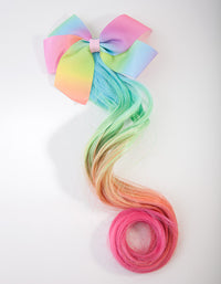 Kids Fabric Light Bow Hair Clip - link has visual effect only