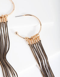 Gold Cutchain Drop Earring - link has visual effect only