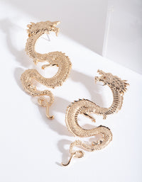 Gold Curl Dragon Earring - link has visual effect only