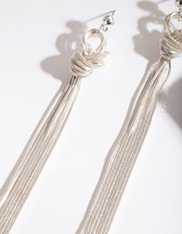 Silver Wrap Thread Earrings - link has visual effect only