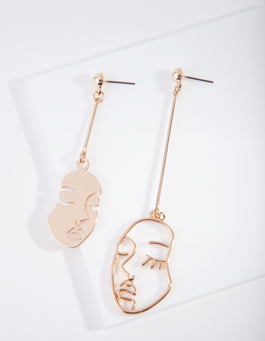 Gold Mismatched Face Earring