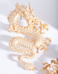 Gold Fire Breathing Dragon Earring - link has visual effect only