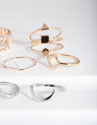 Mixed Metal Shape Cut-Out Ring Pack