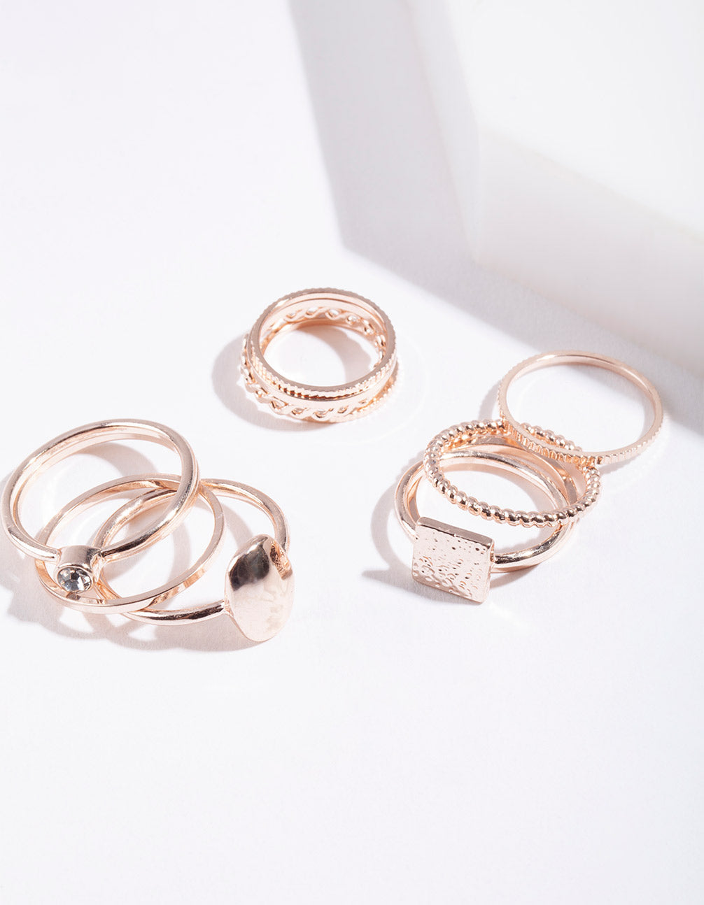 Rose Gold Fine Band Ring Pack