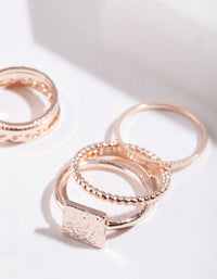 Rose Gold Fine Band Ring Pack - link has visual effect only