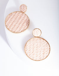 Pink Basket Weave Earring - link has visual effect only